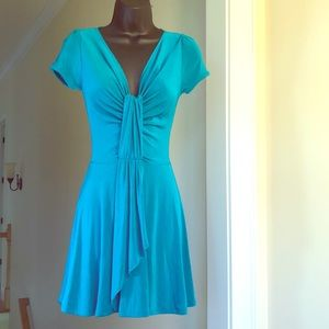 BABY PHAT turquoise sz XS stretch cap sleeve dress